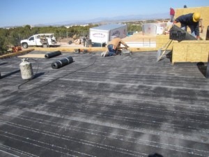 The Roof Is Then Coated With A Tar Based Brai Roofing System. Once The  Decking Is Laid The Roof Is Welded Together With A Torch To Waterproof It.